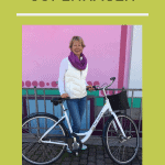 girl on bike in Copenhagen