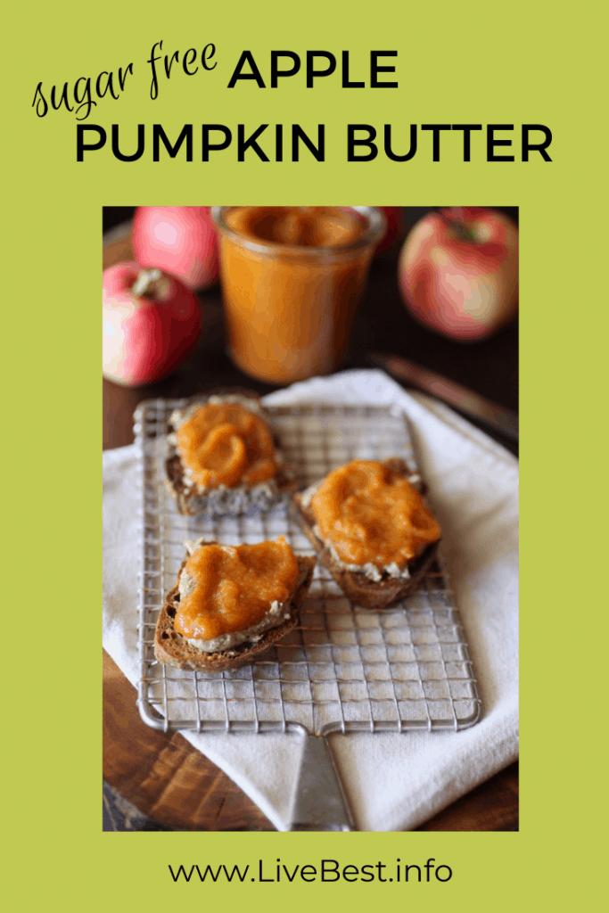 apple pumpkin butter spread on toast